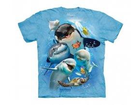 dětské tričko-vtipné-selfie zvířátek oceánů-potisk-mountain