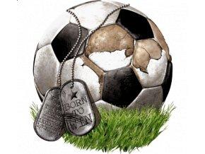 Pánské tričko s potiskem fotbalového míče.