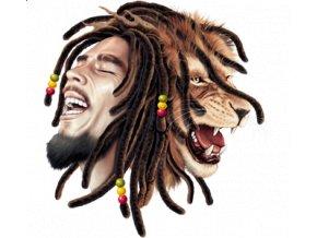 Pánské reggae tričko s potiskem lva Boba Marleyho