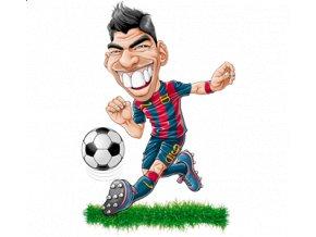Pánské tričko s potiskem fotbalisty Suareze