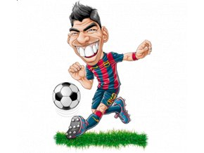 pánské, 3D, tričko, potisk, vtipné, fotbalista, Suarez
