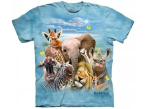 dětské tričko-vtipné-selfie afrických zvířátek-potisk-mountain