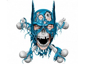 Pánské 3D tričko s potiskem lebky Batmana