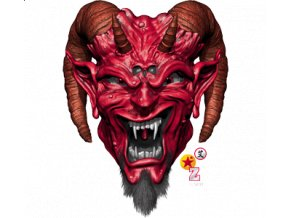 Pánské 3D tričko s potiskem Satana