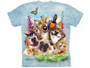 tričko, vtipné, selfie zvířátek, potisk, mountain, dětské