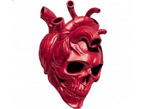 Pánské tričko s potiskem srdce a lebky