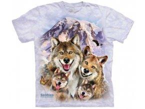 dětské tričko s vlky