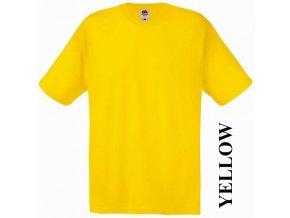 dětské, tričko, jednobarevné, bavlněné, žluté