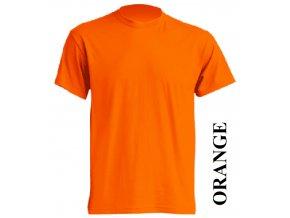 dětské, tričko, jednobarevné, bavlněné, oranžové