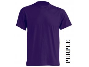 dětské, tričko, jednobarevné, bavlněné, fialové