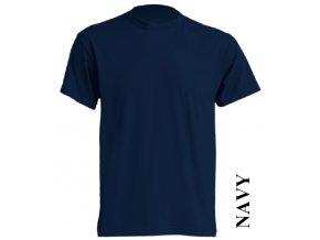 dětské, tričko, jednobarevné, bavlněné, tmavě modré