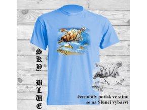 levné-dětské-tričko-UV_potisk-pirát-želvy-modré
