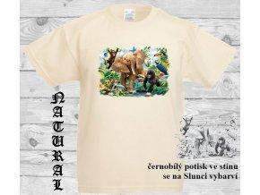 slon natural tricko