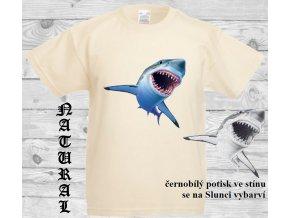 levné-dětské-tričko-UV_potisk-pirát-žralok-modré