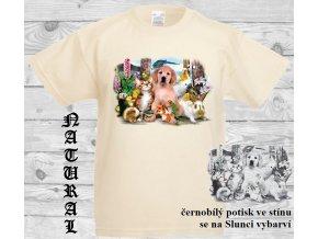 levné-dětské-tričko-UV_potisk-pejsek-zvířátka-modré