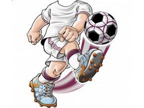 dětské, tričko, potisk, levné, fotbalista, bílý dres