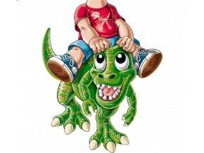 dětské, tričko, potisk, levné, dinosaurus, jezdec