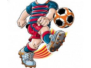 dětské, tričko, potisk, levné, fotbalista, modrý dres