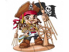 dětské, tričko, potisk, levné, pirát z Karibiku, Jack Sparrow