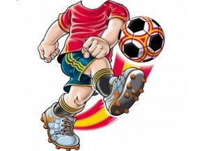 dětské, tričko, potisk, levné, fotbalista, červený dres