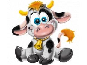 dětské, tričko, potisk, levné, kravička, zvoneček