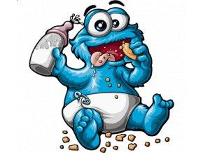 dětské, tričko, potisk, levné, miminko, Cookie Monster