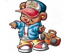 dětské, tričko, potisk, levné, medvídek, Hip Hop