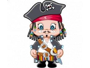 dětské, tričko, potisk, levné, pirát, Jack