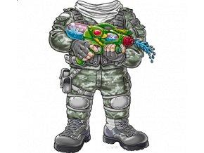 3D, dětské, tričko, potisk, aplikace SION, voják