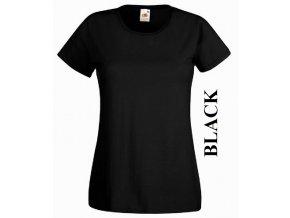 dámské, tričko, jednobarevné, bavlněné, černé