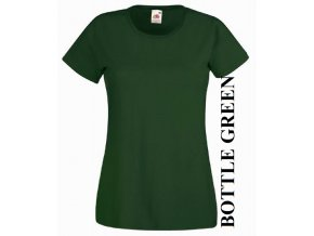 dámské, tričko, jednobarevné, bavlněné, vínové, lahvově zelené