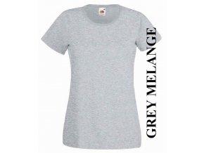 dámské, tričko, jednobarevné, bavlněné, světle šedé