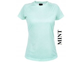 dámské, tričko, jednobarevné, bavlněné, mintově zelené
