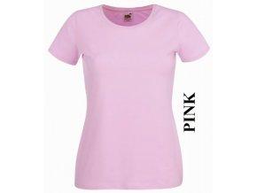 dámské, tričko, jednobarevné, bavlněné, světle růžové