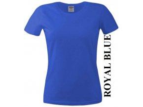 dámské, tričko, jednobarevné, bavlněné, modré