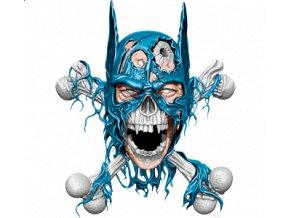Nažehlovací transferový 3D obrázek pro potisk textilu Batmanova lebka