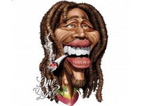 Nažehlovací transferový 3D obrázek pro potisk textilu Bob Marley