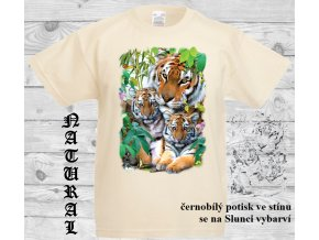 tygri natural tričko uv potisk