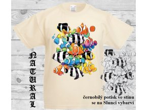 rybicky natural tričko uv potisk
