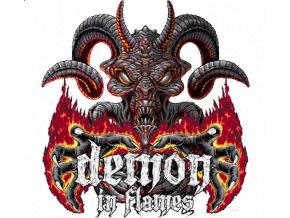 Nažehlovací transferový 3D obrázek pro potisk textilu Démon