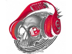 Nažehlovací transferový 3D obrázek pro potisk textilu Hlasitá hudba