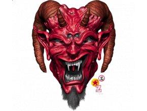 Nažehlovací transferový 3D obrázek pro potisk textilu Satan