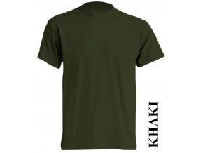 pánské, tričko, jednobarevné, bavlněné, khaki