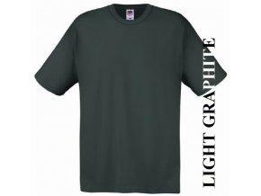 pánské, tričko, jednobarevné, bavlněné, grafitově černé