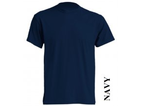 pánské, tričko, jednobarevné, bavlněné, tmavě modré
