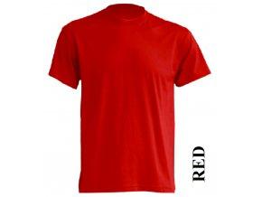 pánské, tričko, jednobarevné, bavlněné, červené