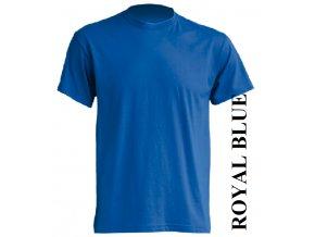 pánské, tričko, jednobarevné, bavlněné, modré