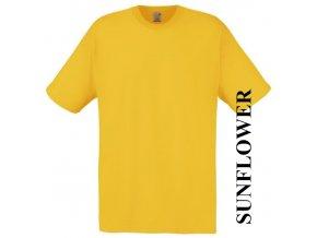 pánské, tričko, jednobarevné, bavlněné, žluté