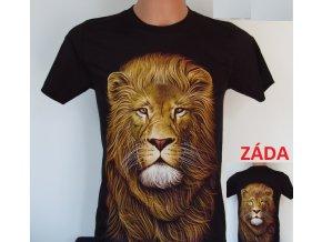 tričko, lev, černé, rock eagle, šelma