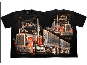 tričko, kamion, truck, americký, svítící, fluorescenční potisk